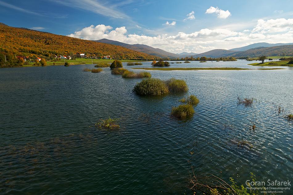 Potopljeno, Stajničko polje, poplava, krško polje,jesen,