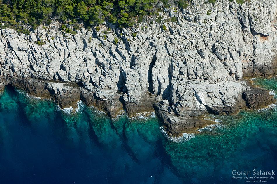 mljet, nacionalni park, jadransko more, tok,otoci, obala, jadran, stijene