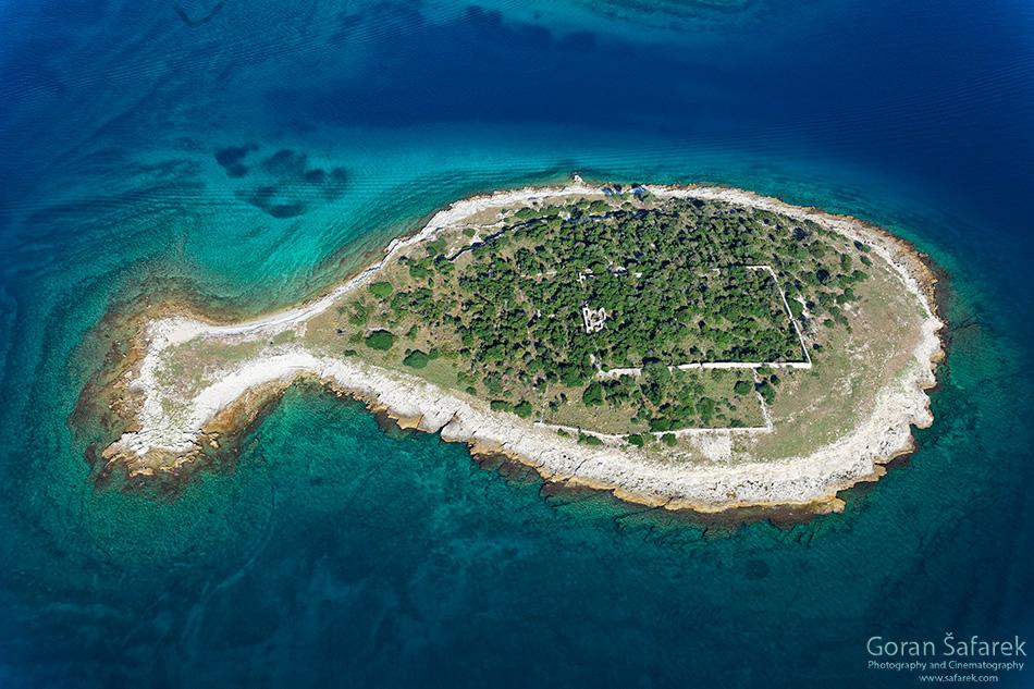 fotografija prirode, zračna fotografija, jadransko more, brijuni, otok
